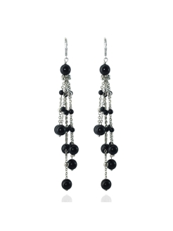 Серьги-грозди Miniature Tassel Black Alerie-Accessories