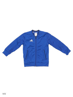 Бомбер CON18 PES JKT Y     BOBLUE/DKBLUE/WHITE Adidas