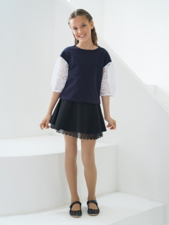 Skirt school for the girl with lace Nota Bene