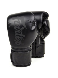 Перчатки для бокса Boxing gloves BGV14SB Solidblack Fairtex