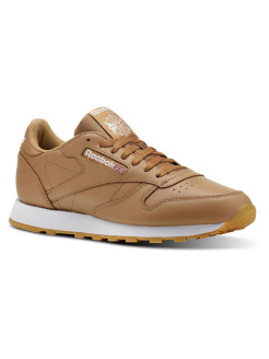 Кроссовки CL LEATHER MU SOFT CAMEL/WHITE/GUM Reebok