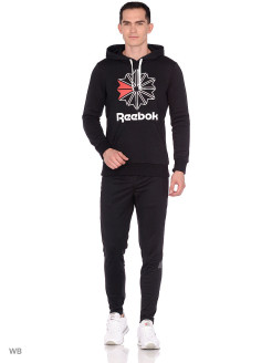 Худи F STAR HOODY        BLACK/WHITE Reebok