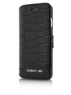 Чехол  для iPhone 7/8 Croco Leather Booktype Black CERRUTI 1881