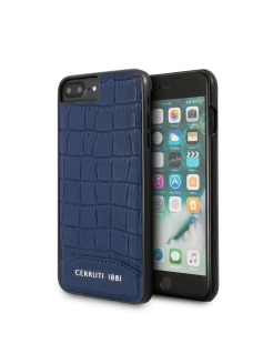 Чехол  для iPhone 7 Plus/8 Plus Croco Leather Hard Navy CERRUTI 1881