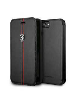Чехол  для iPhone 7Plus/8Plus Heritage W Booktype Leather Black FERRARI