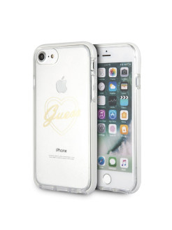 Чехол  для iPhone 7/8 Shockproof Hard PC Gold GUESS