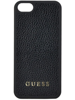 Чехол Guess для iPhone 5S/SE Iridescent Hard PU Black GUESS