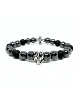 Браслет Skull smile 2 BW black wood