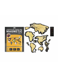 Скретч карта Travel Map MAGNETIC World 1DEA.me
