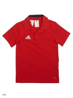 Футболка CON18 CO POLO Y     POWRED/BLACK/WHITE Adidas