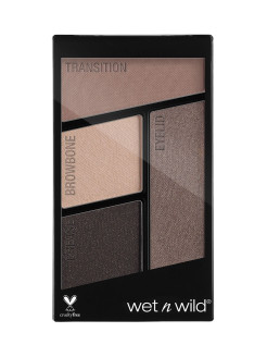 Палетка теней для век Color Icon Eyeshadow Quad (4 Оттенка) E337 тон silent treatment Wet n Wild