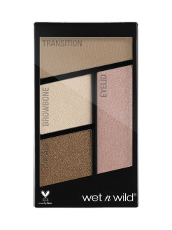 Палетка Теней Для Век Color Icon Eyeshadow Quad (4 Оттенка) E340b walking on eggshells Wet n Wild