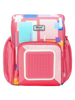 Рюкзак Funny Square School Bag WY-U18-7 Розовый Upixel