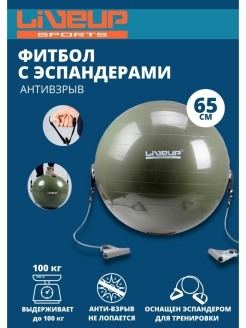 Фитбол GYM BALL WITH EXPANDER LiVEUP