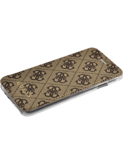 Чехол для iPhone 7/8 4G Charms collection Booktype Brown GUESS