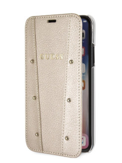 Чехол Guess для iPhone X/XS KAIA collection Booktype Gold GUESS