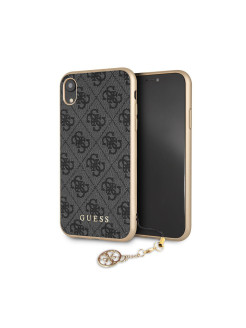 Чехол Guess для iPhone XR 4G Charms collection Hard Grey GUESS