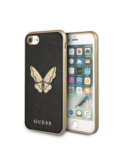 Чехол Guess для iPhone 7/8 Patch Butterfly collection Saffiano Hard Black GUESS