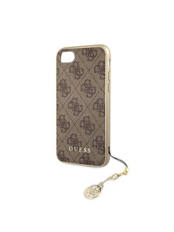 Чехол для iPhone 7/8 4G Charms collection Hard Brown GUESS