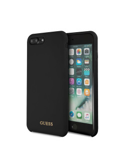 Чехол Guess для iPhone 7Plus/8Plus Silicone collection Gold logo Black GUESS