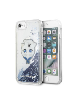 Чехол Lagerfeld для iPhone 7/8 Liquid glitter Sailor Choupete Hard Transp/Blue Karl Lagerfeld