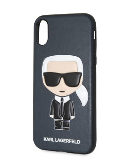 Чехол Lagerfeld для iPhone X/XS PU Leather Iconic Karl Hard Blue Karl Lagerfeld
