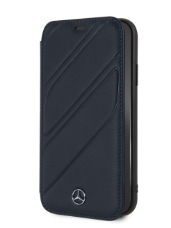 Чехол Mercedes для iPhone XR New Organic I Booktype Leather Blue MERCEDES-BENZ