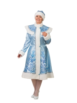 "Carnival costume ""Snow Maiden applique blue satin"" Батик"