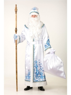 "Carnival costume ""Santa Claus satin applique white"" Батик"