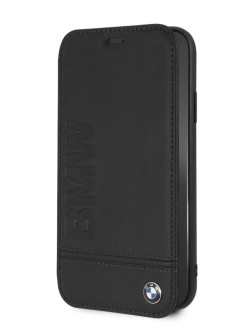 Чехол BMW для iPhone XR Signature Logo imprint Booktype Leather Black BMW