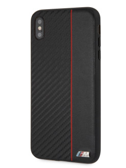 Чехол BMW для iPhone XS Max M-Collection Carbon inspiration Hard Red BMW