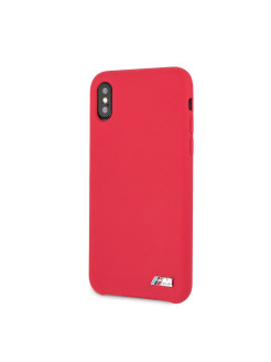 Чехол для iPhone X/XS M-Collection Liquid silicone Hard TPU Red BMW