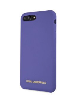 Чехол для iPhone 7 Plus/8 Plus Silicone collection Gold logo Hard Violet Karl Lagerfeld