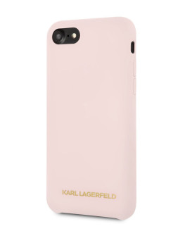 Чехол для iPhone 7/8 Silicone collection Gold logo Hard Light pink Karl Lagerfeld