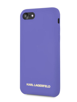 Чехол для iPhone 7/8 Silicone collection Gold logo Hard Violet Karl Lagerfeld