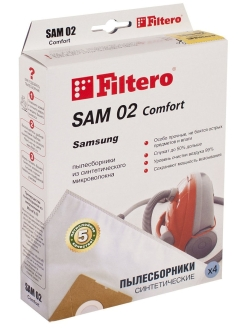 Vacuum cleaner bag, 4 things., SAM 02 Comfort Filtero