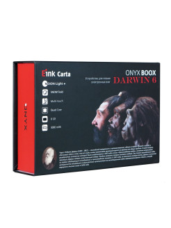 Электронная книга DARWIN 6 (чёрная, Carta Plus, Android, MOON Light+, Wi-Fi, 8 Гб) ONYX Boox