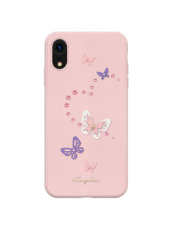 Чехол с Swarovski Butterfly Series для iPhone XR Pink Kingxbar