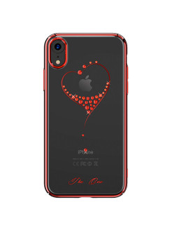 Чехол с Swarovski Wish Series для iPhone XR Red Frame Kingxbar