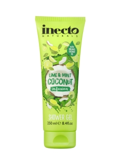 Гель для душа с лаймой и мятой /  Inecto Infusions Lime and Mint Coconut Shower Gel Inecto