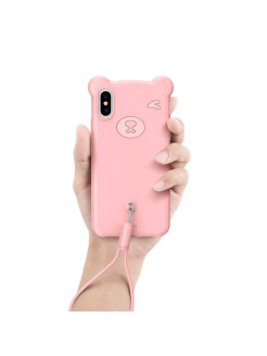 Чехол-накладка Apple iPhone XS Max Baseus Bear Pink BASEUS