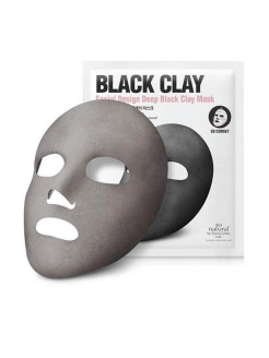 Маска для лица Facial Design Deep Black Clay Mask, 25мл So Natural