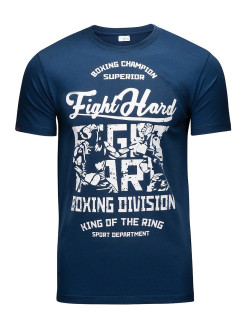 Футболка Fight Hard Blue Athletic pro.