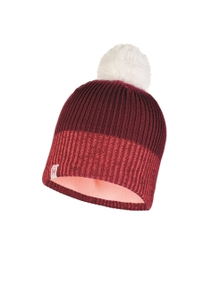 Шапка Buff JR KNITTED & POLAR HAT AUDNY WINE Buff