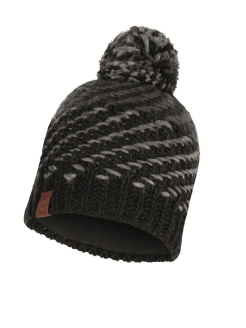 Шапка Buff KNITTED & POLAR HAT NELLA GRAPHITE Buff