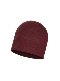 Шапка Buff MIDWEIGHT MERINO WOOL HAT WINE MELANGE Buff