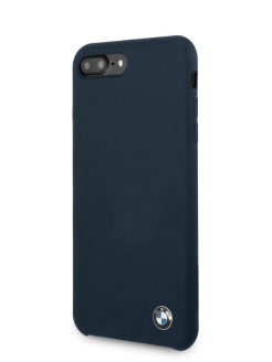Чехол для iPhone 7Plus/8Plus Signature Liquid silicone Hard Navy BMW