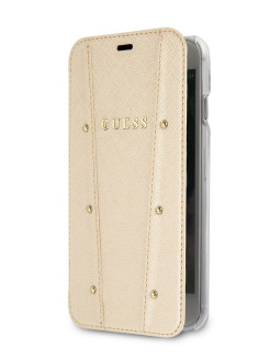Чехол Guess для iPhone 7/8 KAIA collection Booktype Gold GUESS