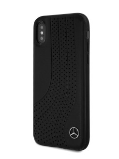 Чехол Mercedes для iPhone X/XS New Bow ll Hard Leather Black MERCEDES-BENZ