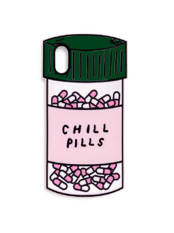 Чехол для iPhone Х (silicone), chill pill ban.do